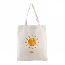 Wholesale memorial friendly plain white ladies cotton canvas handled tote shopping bags
