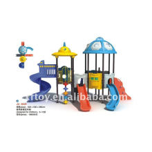 Naughty fort plástico playground equipo