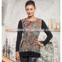 100% cashmere women's fashion printing sweater