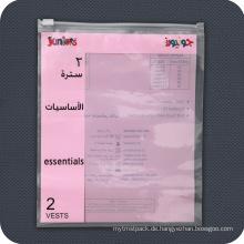 Kundenspezifische bedruckte Plastikzip-Verschluss-Verpackungs-Beutel