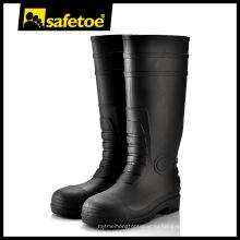 Мода пластиковые безопасности дождь сапоги W-6038