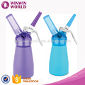 Wholesale Cooking Tools 250ML Plastic Top And Aluminum Canister Whipped Cream Dispenser