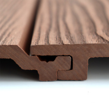 Wood Facade Composite Wall Cladding Easy Installation UV Stable WPC Wall Panel
