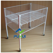 Movable Metal Wire Exposition Basket (PHY507)