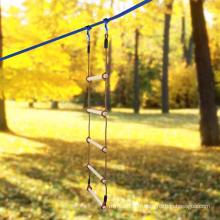 Échelle de corde d'escalade en bois à deux têtes d'extérieur