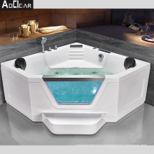 double whirlpool insert massage bath tubs with underwater lights air bubbles