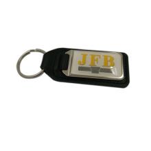 Regalos promocionales Cuero Metal Car Logo Keychain