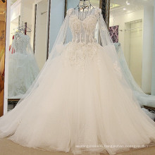 RP58332 Heavy crystals stones cape beautiful suzhou white puffy dresses wedding dress designs for girls
