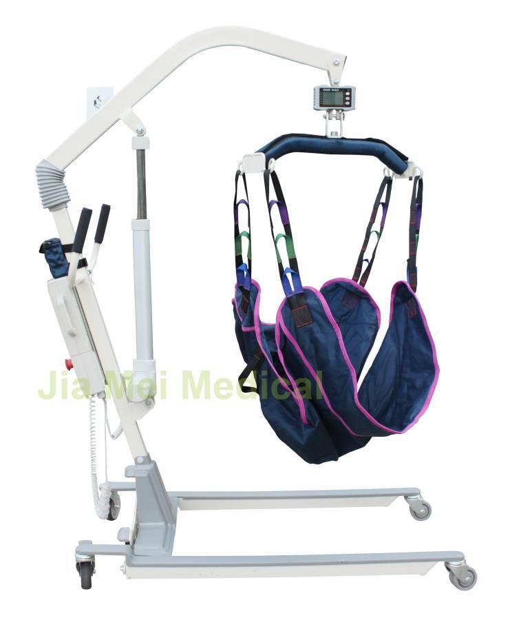 Manual hydraulic lift for bedridden patients
