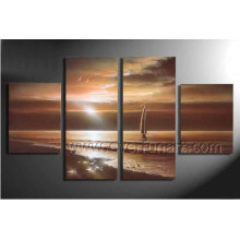 Wall Art Home Decor Seascape Oil Painting on Canvas (SE-194)