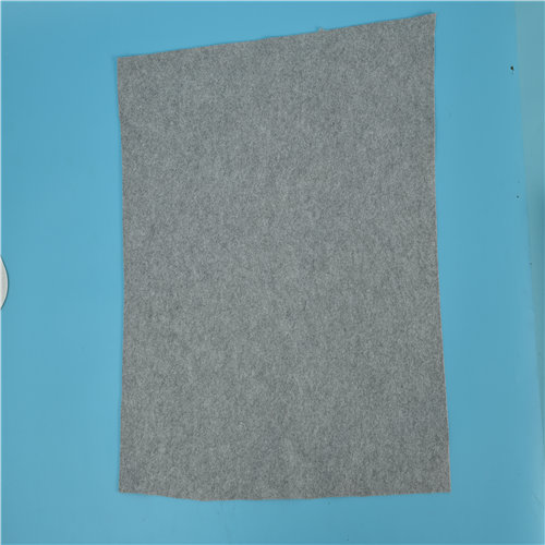 Grey needle punched cotton