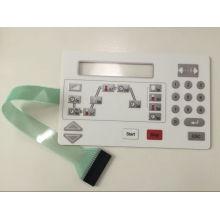 Рельефный выключатель мембранной кнопки с тиснением