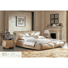 Pretty Leather Bed, Europe Modern Style Bed, Hotel Bed (L2045)