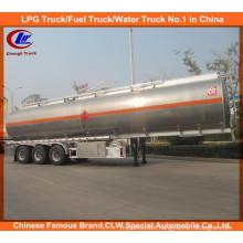 Adr DOT 3 Axle Stainless Steel 42000L Oil Tank Trailer Aluminum Alloy Fuel Tank Semi Trailer