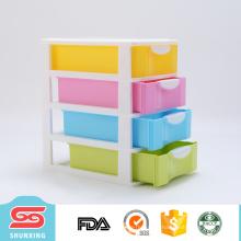Escola de escritório fornece 4 camadas mini gavetas de armazenamento de plástico para venda