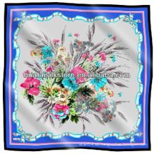 Bandanas estampadas personalizadas de satén de seda