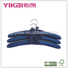 Bulk conjunto de 3pcs N / T tafetá acolchoado cabide de roupas luxious cor