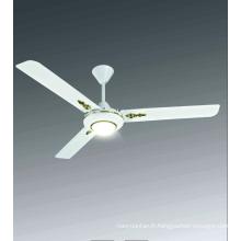 Ventilateur de plafond 56''dc Télécommande Ventilateur de salle de bain intérieure 5 vitesses