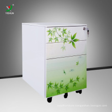 Knock down File Cabinet Mobile Office Furniture File Storage Cabinet