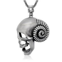Collar de calavera colgante gótico accesorios de moda acero inoxidable 316L