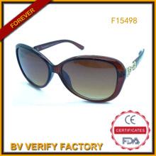 Бесплатный образец солнцезащитных очков для женщин Китая завод (F15498)