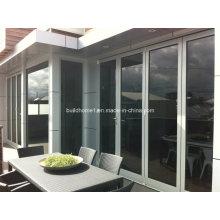 Low E Glass Super Smoothtech Falten Aluminium Türen