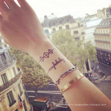 ШУЧИ нетоксические изготовленные на заказ шаблон Водонепроницаемый тела руки спину руку постоянного хной временные татуировки наклейки