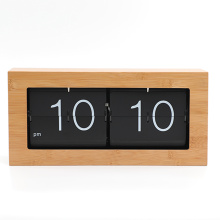 Big Box Flip Down Clock Material de bambú