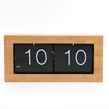 Big Box Flip Down Clock Bahan Bambu