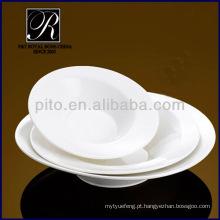 Fábrica da porcelana de P & T, placas profundas, placa branca pura da salada, placas da massa