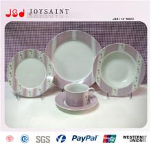 La bonne conception porcelaine de table de porcelaine de table de conception place la plaque de soupe de dîner