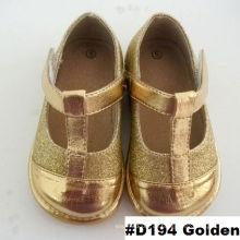 Golden T Strap Baby Mädchen Schuhe Baby Mode Kleid Schuhe