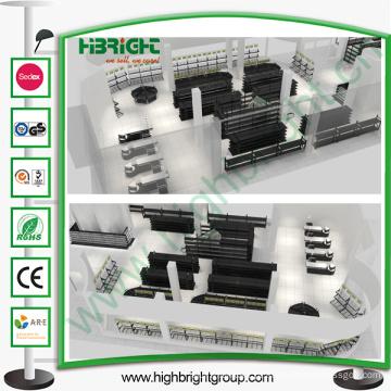 Equipamentos de supermercado com design de layout
