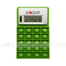8 chiffres Calculatrice de silicium pliable à double aimant avec aimant (LC525)