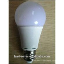 Супер яркость A60 E27 светодиодная лампа 9W