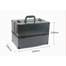 Schwarzer Kosmetikkoffer Beauty Case Aluminium