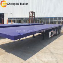 3 Axle Container 40FT Flatbed Truck Semi Trailer