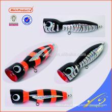 WDL042 iscas para pesca popper madeira decorativo isca de pesca isca de pesca de madeira