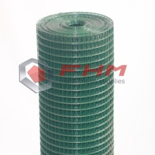 Grön PVC Svetsad Wire Cloth 20 Gauge Wire