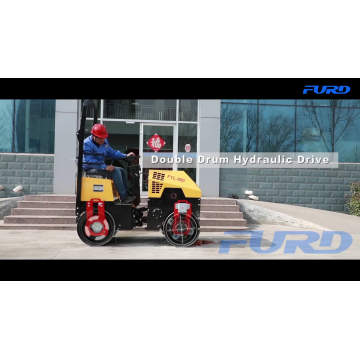 Ride on Double Drum 1 Ton Roller Compactor (FYL-880)