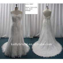 Superior Tulle With Lace wedding dress-B1037