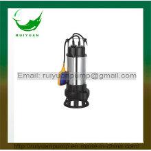 Serie 750W 1HP Bomba sumergible barata de las aguas residuales del flotador del alambre de cobre para el abastecimiento de agua (VM750-2F)