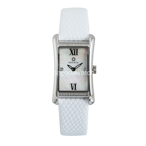 Quartz crystal stainless steel watches for ladies