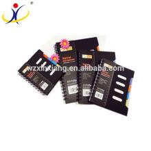 Personnaliser le cahier de papier de camarade de couverture de noir de 0.45mm pp réutilisé
