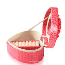 Nueva caja de anillo de joyería de cuero rosa de moda (JB-CR-B2)