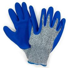Hppe Fiber Anti Cut Handschuhe Blue Latex Palm Coating Mechanix Arbeitshandschuh