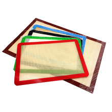 Non stick and reusable high temperature resistant Silicone baking mat for making cookies macarons breads and past