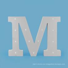 Letra grande del MDF LED para la decoración del día de fiesta