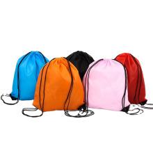 Custom LOGO Printed Full Color Nylon Waterproof Drawstring Bag multifunctional Bundle Pocket