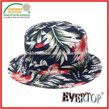 Allover печати ведро шляпу, 100% хлопок ведро шляпа красивая шляпа ведро